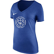 Nike Women's Kentucky Wildcats Blue Basketball Logo Tri-Blend T-Shirt
