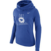 Nike Women's Kentucky Wildcats Blue Club Funnel Neck Hoodie