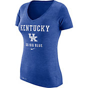 Nike Women's Kentucky Wildcats Blue Franchise Dri-Blend V-Neck T-Shirt