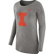 Nike Women's Illinois Fighting Illini Grey Cozy Long Sleeve Shirt