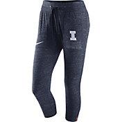 Nike Women's Illinois Fighting Illini Heathered Blue Gym Vintage Capri Pants