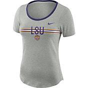Nike Women's LSU Tigers Grey Strike Slub Performance T-Shirt