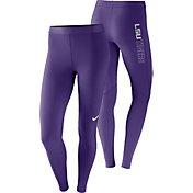Nike Women's LSU Tigers Purple Pro Tights