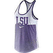 Nike Women's LSU Tigers Purple Modern Sport Dri-Fit Dri-Blend Tank Top
