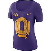 Nike Women's LSU Tigers Purple Local Imagery Football T-Shirt