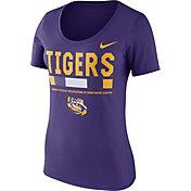 Nike Women's LSU Tigers Purple Football Sideline Scoop T-Shirt
