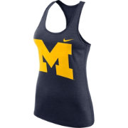 Nike Women's Michigan Wolverines Blue Dri-FIT Touch Tank Top