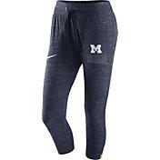 Nike Women's Michigan Wolverines Heathered Blue Gym Vintage Capri Pants