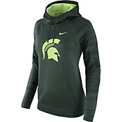 Nike Women's Michigan State Spartans Green All Time Therma-FIT Hoodie