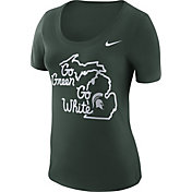 Nike Women's Michigan State Spartans Green 'Go Green, Go White' Local Elements T-Shirt
