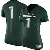 Nike Women's Michigan State Spartans #1 Green Game Football Jersey