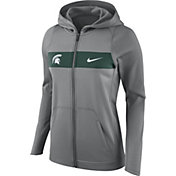 Nike Women's Michigan State Spartans Grey Full-Zip Hoodie