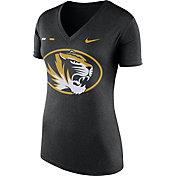Nike Women's Missouri Tigers Black Stripe Bar V-Neck T-Shirt