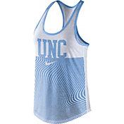 Nike Women's North Carolina Tar Heels Carolina Blue Modern Sport Dri-Fit Dri-Blend Tank Top