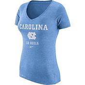 Nike Women's North Carolina Tar Heels Carolina Blue Franchise Dri-Blend V-Neck T-Shirt