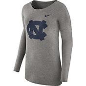 Nike Women's North Carolina Tar Heels Grey Cozy Long Sleeve Shirt