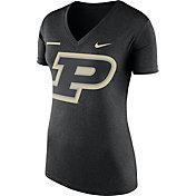 Nike Women's Purdue Boilermakers Black Stripe Bar V-Neck T-Shirt