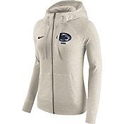 Nike Women's Penn State Nittany Lions Heathered Oatmeal Gym Vintage Full-Zip Hoodie