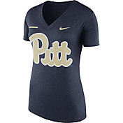 Nike Women's Pitt Panthers Blue Stripe Bar V-Neck T-Shirt