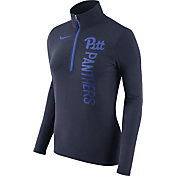 Nike Women's Pitt Panthers Heathered Blue Element Half-Zip Shirt