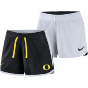 Nike Women's Oregon Ducks Black/White Touch Reversible Performance Shorts