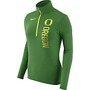Nike Women's Oregon Ducks Heathered Apple Green Element Half-Zip Shirt