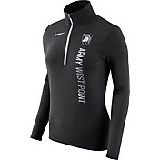 Nike Women's Army West Point Black Knights Heathered Army Black Element Half-Zip Shirt