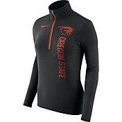 Nike Women's Oregon State Beavers Heathered Black Element Half-Zip Shirt