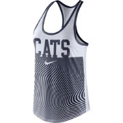 Nike Women's Arizona Wildcats Navy Modern Sport Dri-Fit Dri-Blend Tank Top