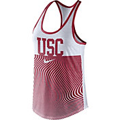 Nike Women's USC Trojans Cardinal Modern Sport Dri-Fit Dri-Blend Tank Top