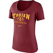 Nike Women's USC Trojans Cardinal 1997 Retro Football Scoop Neck T- Shirt