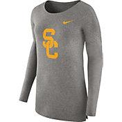Nike Women's USC Trojans Grey Cozy Long Sleeve Shirt