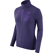 Nike Women's TCU Horned Frogs Heathered Purple Element Half-Zip Shirt