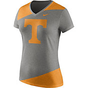 Nike Women's Tennessee Volunteers Gray/Tennessee Orange Champ Drive Football Dri-Blend V-Neck T-Shirt