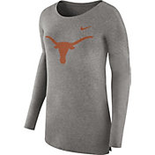 Nike Women's Texas Longhorns Grey Cozy Long Sleeve Shirt