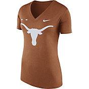 Nike Women's Texas Longhorns Burnt Orange Stripe Bar V-Neck T-Shirt