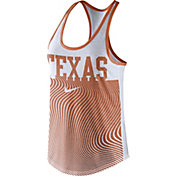 Nike Women's Texas Longhorns Burnt Orange Modern Sport Dri-Fit Dri-Blend Tank Top