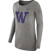 Nike Women's Washington Huskies Grey Cozy Long Sleeve Shirt
