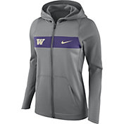 Nike Women's Washington Huskies Grey Full-Zip Hoodie