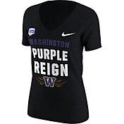 Nike Women's Washington Huskies 2017 PlayStation Fiesta Bowl Bound Verbiage Tri-Blend V-Neck T-Shirt