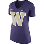 Nike Women's Washington Huskies Purple Stripe Bar V-Neck T-Shirt