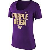 Nike Women's Washington Huskies 'Purple Reign' Football Mantra Purple T-Shirt