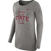 Nike Women's Iowa State Cyclones Grey Cozy Long Sleeve Shirt