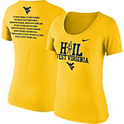 Nike Women's West Virginia Mountaineers Gold 'Hail West Virginia' 2017 Fan T-Shirt