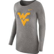 Nike Women's West Virginia Mountaineers Grey Cozy Long Sleeve Shirt