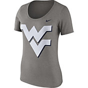 Nike Women's West Virginia Mountaineers Grey Modern Sport Scoop Neck T-Shirt