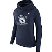 Nike Women's West Virginia Mountaineers Blue Club Funnel Neck Hoodie