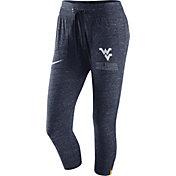 Nike Women's West Virginia Mountaineers Heathered Blue Gym Vintage Capri Pants