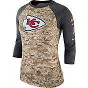 Nike Women's Kansas City Chiefs Salute to Service 2017 Camouflage Raglan