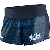 Nike Women's Dallas Cowboys Crew Performance Navy Shorts